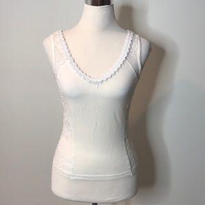Dolce & Gabbana white lace tank